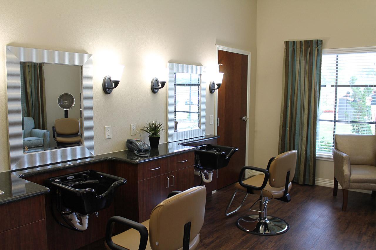 Beauty/barber shop at Treviso nursing home
